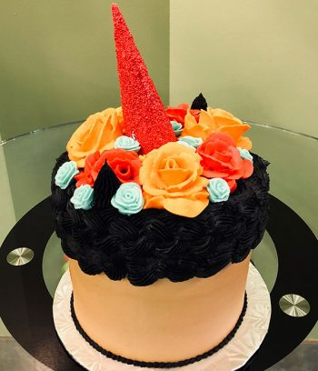 Frida Kahlo Unicorn Layer Cake - Back