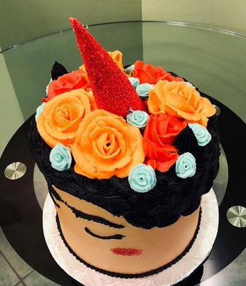 Frida Kahlo Unicorn Layer Cake - Top