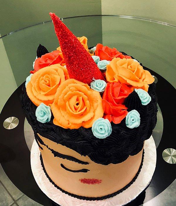 Frida Kahlo Unicorn Layer Cake Classy Girl Cupcakes