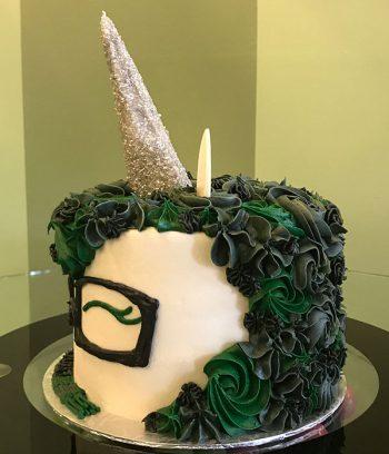 Harry Potter Unicorn Cake - Slytherin