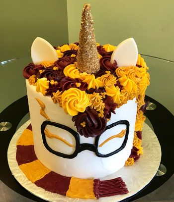 Harry Potter Unicorn Layer Cake - Top