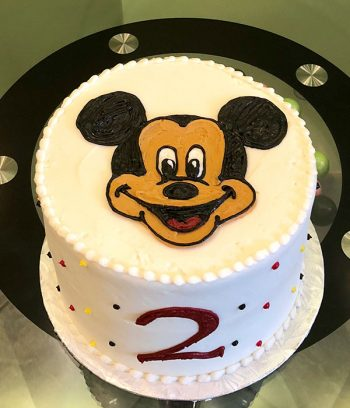 Mickey Mouse Layer Cake - Top