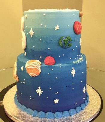Outer Space Tiered Cake - Right Side