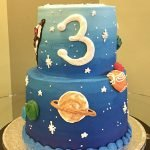 Outer Space Tiered Cake