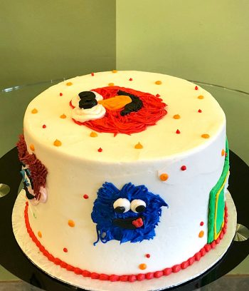 Sesame Street Layer Cake - Left Side