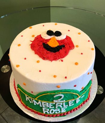 Sesame Street Layer Cake - Top