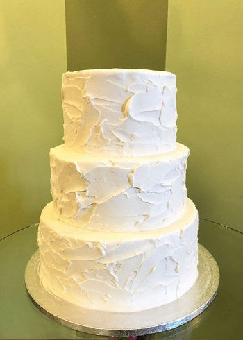 Stucco Wedding Cake