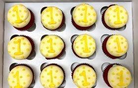 First Birthday Cupcakes - Yellow