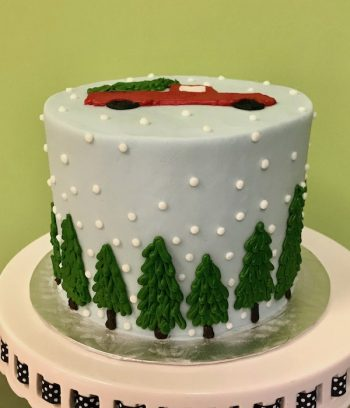 Holiday Truck Layer Cake - Side