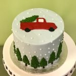 Holiday Truck Layer Cake - Top