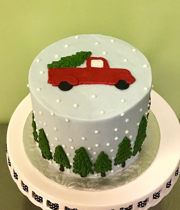 Holiday Truck Layer Cake