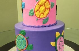 Sea Turtle Tiered Cake