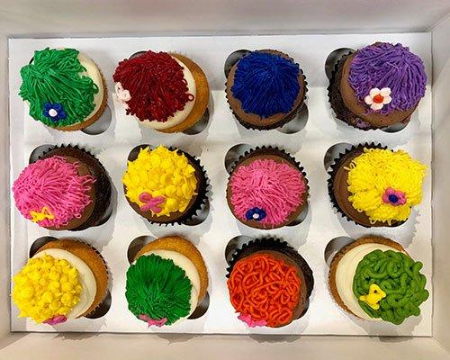 Troll Hair Cupcakes