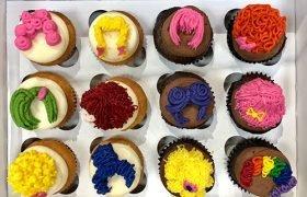 Wig Cupcakes