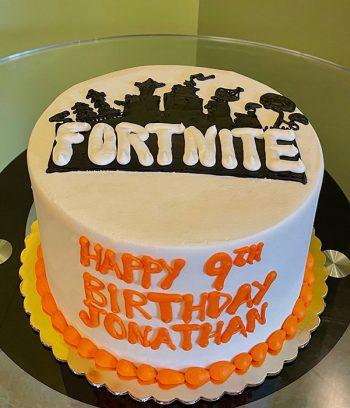 Fortnite Logo Layer Cake - Orange