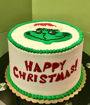 Grinch Layer Cake - Side