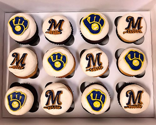 Sports Team Cupcakes - Milwaukee Brewers