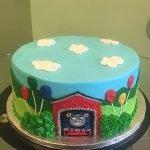 Thomas the Train Layer Cake