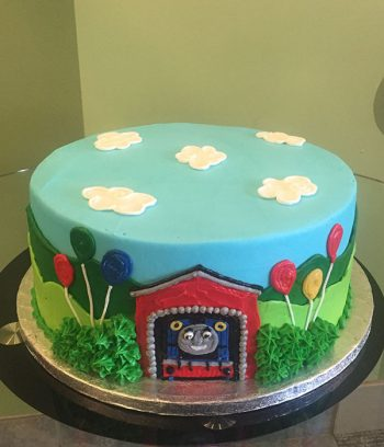 Thomas the Train Layer Cake