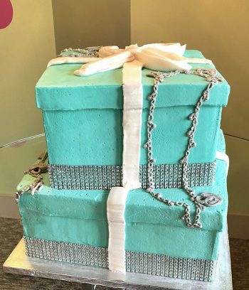 Tiffany Box Tiered Cake - Back