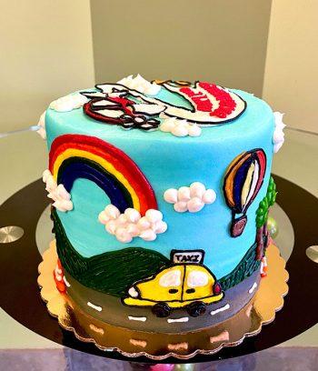 Transportation Layer Cake - Side