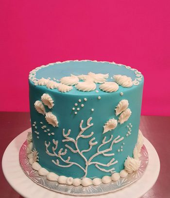 Under The Sea Layer Cake - Coral & Shells