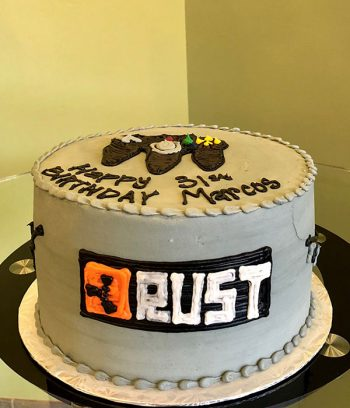 Video Game Layer Cake - Rust