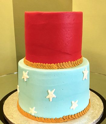 Wonder Woman Tiered Cake - Back