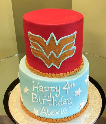 Wonder Woman Tiered Cake