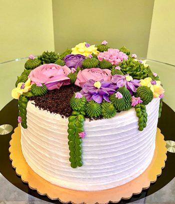 Succulent Layer Cake