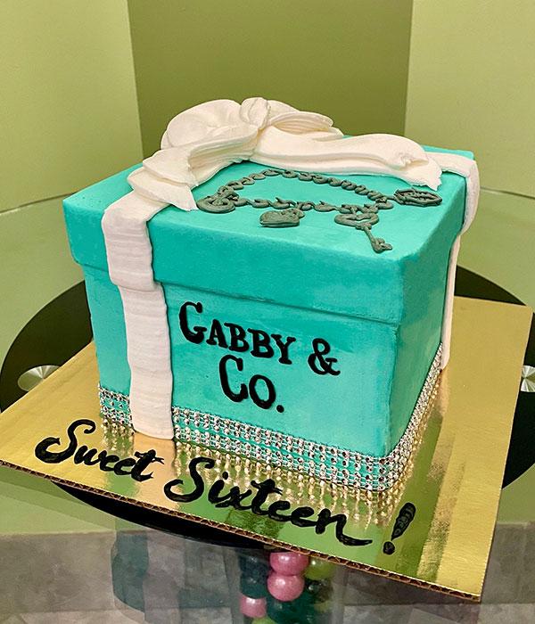Tiffany Box Layer Cake