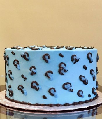 Cheetah Print Layer Cake - Blue