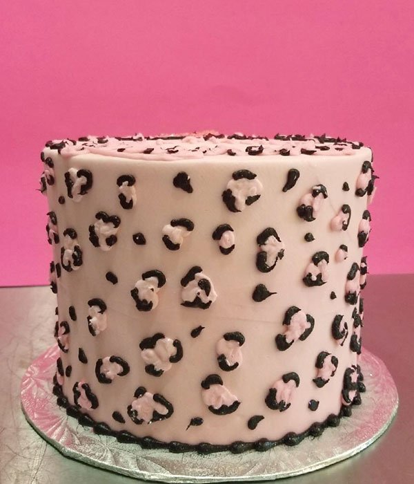 Miraculous Cheetah Print Layer Cake Classy Girl Cupcakes Personalised Birthday Cards Petedlily Jamesorg
