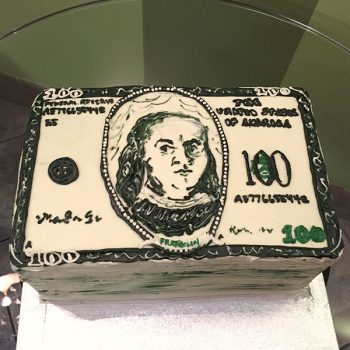 Dollar Bill Layer Cake - Top