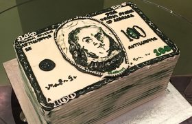 Dollar Bill Layer Cake