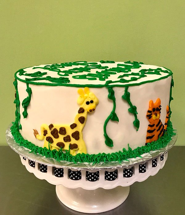 Jungle Layer Cake - Giraffe & Lion