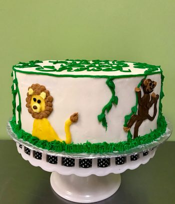 Jungle Layer Cake - Lion & Monkey