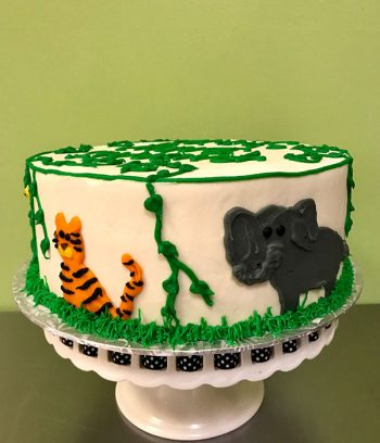 Jungle Layer Cake - Tiger & Elephant