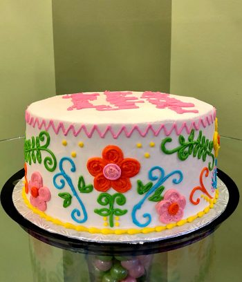 Mexican Embroidery Layer Cake - Side