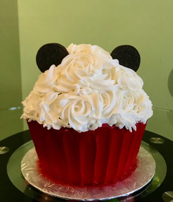 Mickey Mouse Giant Cupcake Cake - Back