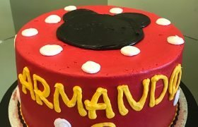Mickey Mouse Silhouette Layer Cake - Top