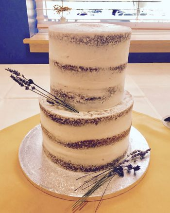 Naked Tiered Cake - Dried Lavender