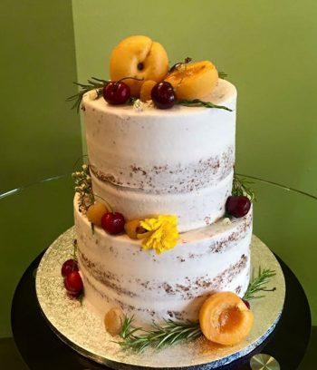 Naked Tiered Cake - Fruit