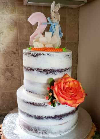 Naked Tiered Cake - Peter Rabbit