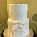 Champagne Toast Tiered Cake