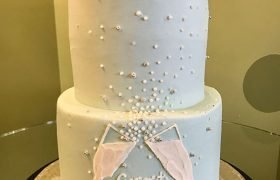 Pop the Bubbly Tiered Cake