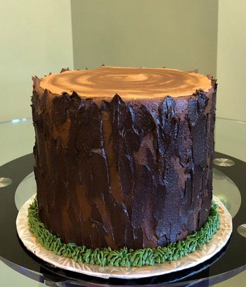 Tree Stump Layer Cake