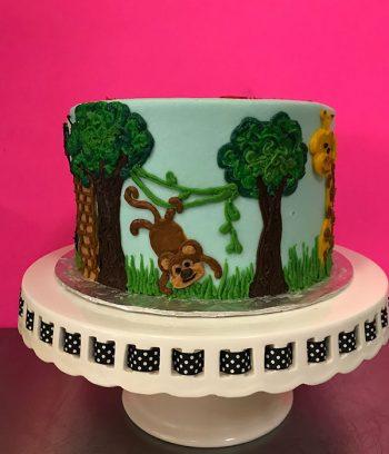 Zoo Layer Cake - Monkey