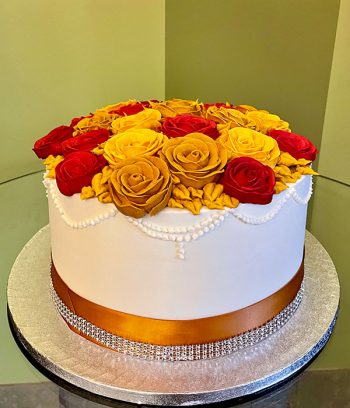 Ana Layer Cake - Red & Gold