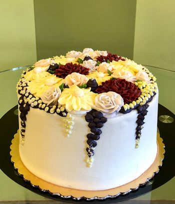 Assorted Flower Layer Cake - Back